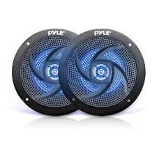 Pyle PLMRS53BL 5.25 Inch Waterproof Low Profile Marine Speakers, Black (2 Pack)