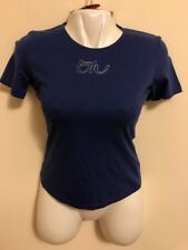 Byblos Blu New Women T-shirt Navy Color, size 42 Italy, 8 U.S.A. Made In Italy.