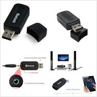 3.5mm AUX Wireless USB Bluetooth Adaptor Car Vehicle Audio Music Receiver Black