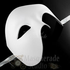 Mens Half Phantom of the Opera Venetian Costume Masquerade Ball Mask [White]