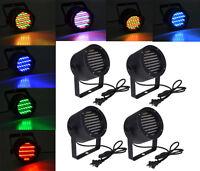 4 x 86 LED RGB Stage Lights Par Disco Party Pub DJ DMX-512 Laser Projector Light