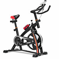 Quiet Indoor Exercise Bicycle Gym Workout Fitness Bike Cycling Cardio Adjustable