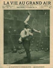 Publicité ancienne document championnats du monde de lutte issue magazine 1900