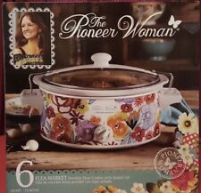 The Pioneer Woman Flea Market Portable Slow Cooker with Lid *NEW*