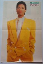 PRINCE in yellow Smash Hits Centerfold magazine POSTER  17x11 inches