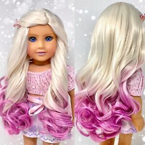 Exceart 5 Pcs Doll Hair Wigs American Doll Wigs Straight Long Doll Hair for DIY Crafts American Girl Doll Making