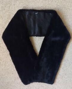 Kenneth Cole Black Faux Fur Stole/Scarf