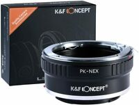 K&F Concept Objektivadapter für Pentax PK K Objektiv auf Sony NEX Alpha E Kamera