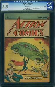 Action Comics #1 CGC 8.5 DC 1976 Sleeping Bag Reprint - 1st Superman! JLA E8 cm