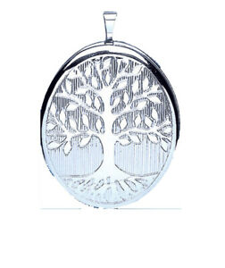 Tree of Life Locket Sterling Silver 25 x 30mm 925 Hallmark All Chain Lengths