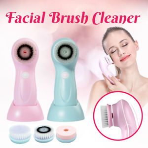 3in1 Electric Facial Brush Skin Care Cleansing Waterproof Massager Face Cleaner