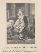 Santa  Elisabetta di Ungheria, 1800 acquaforte