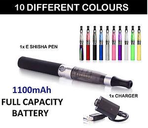 ELECTRONIC E-CIGARETTE VAPE PEN E SHISHA HOOKAH KIT + 1100 MAH BATTERY + CHARGER