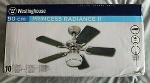 "Westinghouse Princess Radiance II 90 cm / 36"" Dark Pewter/Chrome Ceiling Fan"