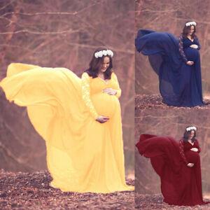Pregnant Women Maxi Gown Photography Photo Shoot Fancy Maternity Long Wrap Dress