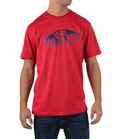 VANS Off The Wall New Men's Print Logo T-Shirt Top Tee S M L XL XXL Cardinal Red
