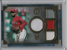 2019 Topps Museum Collection Elvis Andrus Quad Relic Gold #15/25 Rangers