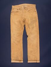 RRL Double RL Ralph Lauren Sand Washed Selvedge Denim Jeans Size 30 X 30