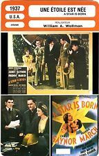 Fiche Cinéma. Movie Card. Une étoile est née/A star is born (USA) 1937 A.Wellman
