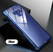 For Samsung Galaxy Note 9 Metal Bumper Tempered Glass Shockproof Case Back Cover
