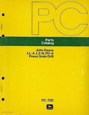 John Deere Ll-A,Lz-B,Pd-A Press Grain Drill Parts Catalog