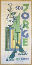 2006 Seu Jorge - Portland Silkscreen Concert Poster by Guy Burwell