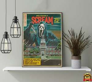 SCREAM Movie Poster Horror Movie Home Decor Wall Painting Home Decoration