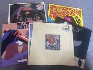 "7 X Vinyl Record LP:  BUNDLE OF RECORD ALBUMS Singles. Job Lot Collection 12"""