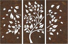 Albero della vita in metallo, pannello decorativo 3 pezzi