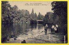cpa 75 - PARIS Bois de VINCENNES Lac DAUMESNIL animé Cygnes Canards Swans Ducks