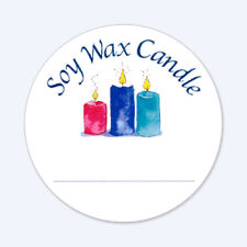 120 2-IN ROUND STICKERS SOY WAX CANDLE w/LINE TO WRITE SCENT FRAGRANCE KIMMERIC
