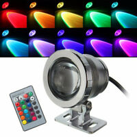 12V 10W 20W RGB Colorful LED Underwater Light Fountain Remote Control Lamp Bulb