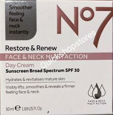No7 Restore and Renew Face and Neck MULTI ACTION SPF 30 Day Cream - 50ml 01/2021
