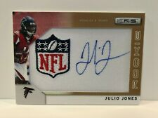 Julio Jones 2011 Rookies & Stars NFL LOGO PATCH RELIC AUTO #286  10/25   wow!