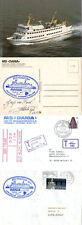 GERMAN PASSENGER SHIP MS DANIA 2 SHIPS CACHED COVERS & COLOUR POSTCARD