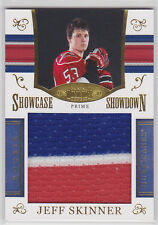 2010 10-11 Dominion Rookie Showcase Showdown Colossal Jerseys Prime Jeff Skinner