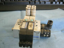Lot of Koganei  F10T1-CPS3  Valves (2) Mounted to Koganei F10M3F Manifold  <