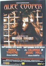 """ALICE COOPER 2000 """"BRUTAL PLANET TOUR"""" DENVER / COLORADO SPRINGS CONCERT POSTER"""