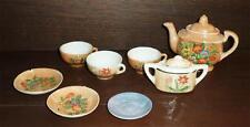 Vintage 5 Piece Porcelain China Tea Set With Flashed Glaze Mixed Lot