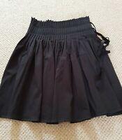 Veronika Maine Black Pleated Skirt Size 12 Made In Australia