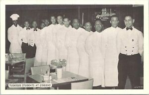 Photo Post Card Black Tuskegee Students at O'Brien's Restaurant New York 1950s