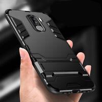 For Samsung Galaxy J4 J6 Plus 2018, Defender Hybrid Bumper Kickstand Case Cover