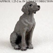 Weimaraner Mini Resin Hand Painted Dog Figurine Statue