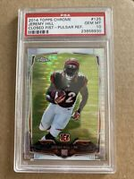 2014 JEREMY HILL PSA 10 TOPPS CHROME PULSAR REFRACTOR ROOKIE RC #125