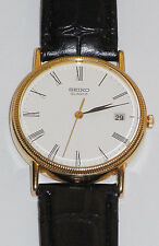 GENTS SEIKO 9CT SOLID GOLD QUARTZ WATCH,GREAT CONDITION ORIGINAL BOX