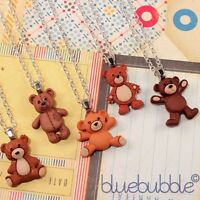 FUNKY VINTAGE BEAR NECKLACE CUTE KITSCH RETRO SWEET FUN CARTOON TOY ANIMAL GIFT