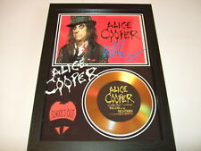 ALICE COOPER  SIGNED   GOLD DISC  DISPLAY 8