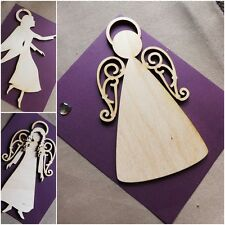 Wooden scrapbook die cut-out MDF large craft Christmas xmas Angels 3mm thick