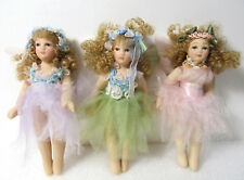 Three Ballerina Ballet Dancers Girls Ceramic Porcelain Figurines