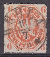 """Preußen - 1861, MiNr. 15, 6 Pf. mit einem K1 """"RUHLA / 18 7"""" - bitte ansehen !!"""